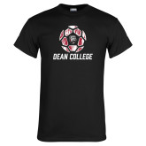Black T Shirt-Distressed Soccer Design