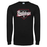 Black Long Sleeve T Shirt-Baseball Plate Design