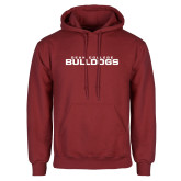 Cardinal Fleece Hoodie-Dean College Bulldogs Stacked