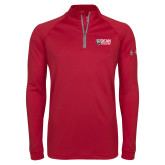 Under Armour Cardinal Tech 1/4 Zip Performance Shirt-Dean College w/ Bulldog Head