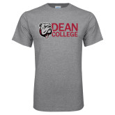 Grey T Shirt-Dean College w/ Bulldog Head