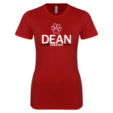 Next Level Ladies SoftStyle Junior Fitted Cardinal Tee-Dean Athletics