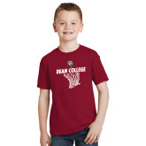Youth Cardinal T Shirt-Basketball Net Design