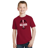 Youth Cardinal T Shirt-Football Ball Design