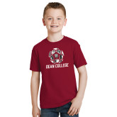 Youth Cardinal T Shirt-Distressed Soccer Design