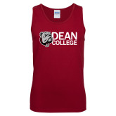 Cardinal Tank Top-Dean College w/ Bulldog Head