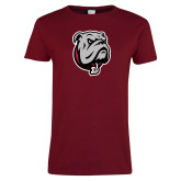 Ladies Cardinal T Shirt-Bulldog Head