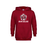 Youth Cardinal Fleece Hoodie-Distressed Soccer Design
