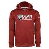 Under Armour Cardinal Performance Sweats Team Hoodie-Dean College w/ Bulldog Head