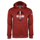 Under Armour Cardinal Performance Sweats Team Hoodie-Football Ball Design
