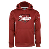 Under Armour Cardinal Performance Sweats Team Hoodie-Baseball Plate Design