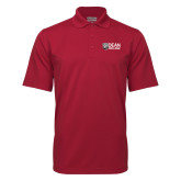 Cardinal Mini Stripe Polo-Dean College w/ Bulldog Head