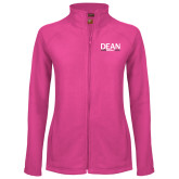 Ladies Fleece Full Zip Raspberry Jacket-Baseball