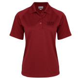 Ladies Cardinal Textured Saddle Shoulder Polo-Primary Mark