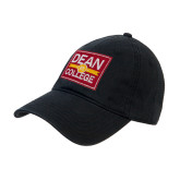 Black Twill Unstructured Low Profile Hat-Patch Logo