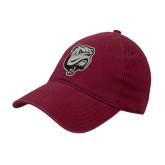 Cardinal Twill Unstructured Low Profile Hat-Bulldog Head