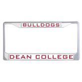 Metal License Plate Frame in Chrome-Bulldogs