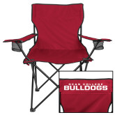 Deluxe Cardinal Captains Chair-Dean College w/ Bulldog Head