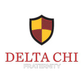 Medium Decal-Delta Chi Fraternity W/ Shield Stacked