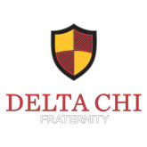 Large Decal-Delta Chi Fraternity W/ Shield Stacked