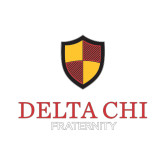 Extra Small Decal-Delta Chi Fraternity W/ Shield Stacked