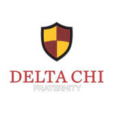 Small Decal-Delta Chi Fraternity W/ Shield Stacked