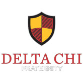 Extra Large Decal-Delta Chi Fraternity W/ Shield Stacked