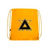 Nylon Gold Drawstring Backpack-Badge