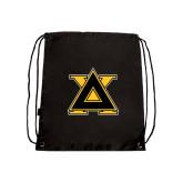 Black Drawstring Backpack-Badge