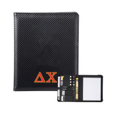 Carbon Fiber Tech Padfolio-Greek Letters