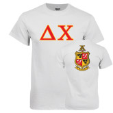 White T Shirt-Greek Letters