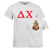 White T Shirt-Solid Greek Letters