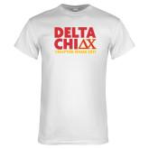 White T Shirt-DELTA CHI Chapter