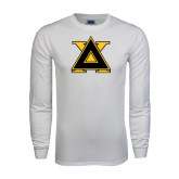 White Long Sleeve T Shirt-Badge