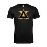 Next Level SoftStyle Black T Shirt-Badge