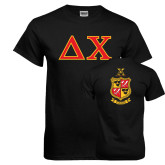 Black T Shirt-Greek Letters