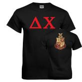 Black T Shirt-Solid Greek Letters