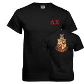 Black T Shirt-Solid Greek Letters