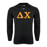 Under Armour Black Long Sleeve Tech Tee-Greek Letters