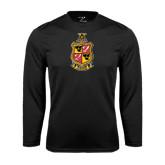 Performance Black Longsleeve Shirt-Contemporary Coat Of Arms