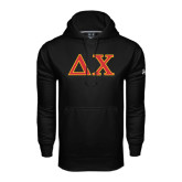 Under Armour Black Performance Sweats Team Hood-Greek Letters