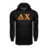 Under Armour Black Performance Sweats Team Hoodie-Greek Letters