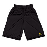 Russell Performance Black 9 Inch Short w/Pockets-Badge