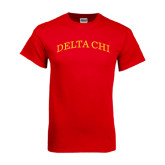 Red T Shirt-Arched Delta Chi