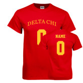 Red T Shirt-Personalized Name & Number