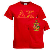 Red T Shirt-Greek Letters