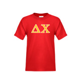 Youth Red T Shirt-Greek Letters