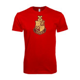 Next Level SoftStyle Red T Shirt-Legacy Coat Of Arms