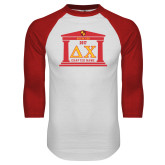 White/Red Raglan Baseball T Shirt-Chapter on Steps