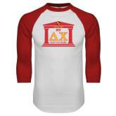 White/Red Raglan Baseball T Shirt-Chapter on Steps